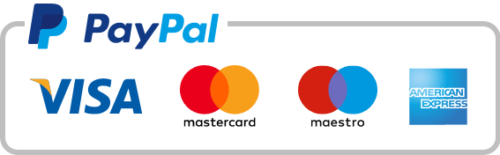 PayPal and card icons